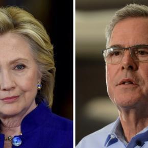 Hilary Clinton and Jeb Bush
